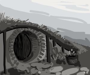A Hobbit house.