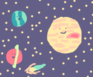 Happy little planets