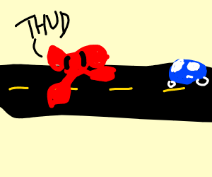 A Ribbon crossing the Highway