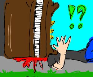 Piano fall on guy's head