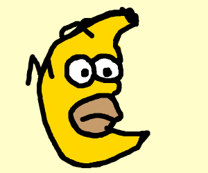 Hand Banana fused with Homer
