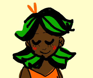 Girl that has green and black hair