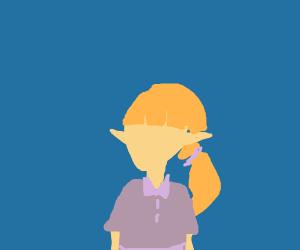 blonde elf girl