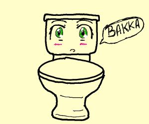 Blushing toilet swearing at you