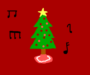 xmas tree with music
