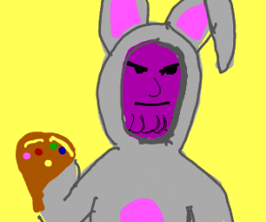 thanos in a bunny costume