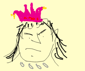 Evil Queen with Pink Crown