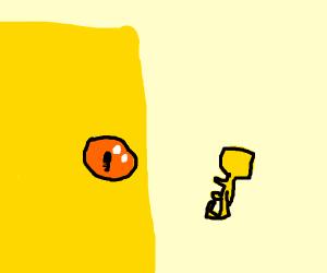 Golden door key