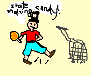 Candy Maker kicking a Chart