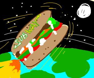 a rocket ship, but its a subway