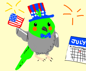 Birb enjoys the 4th of july
