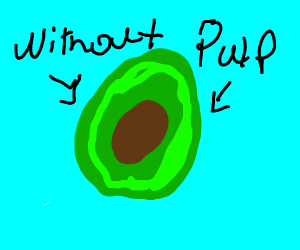 avocado without pulp