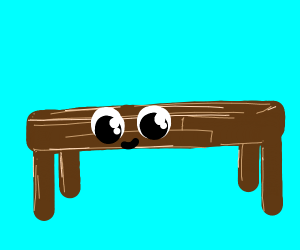 table with eyes