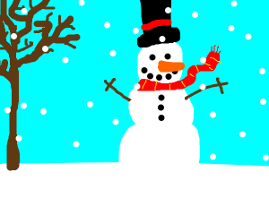 Snowman outside