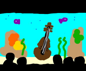 Violin in an Aquarium