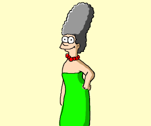 marge simpson white with grey hair
