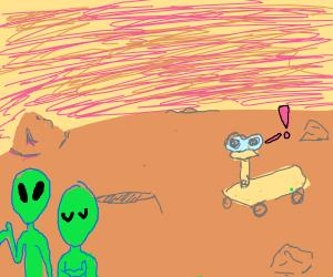 Mars Rover sees aliens