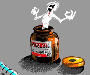 ghoul emerging from haldol