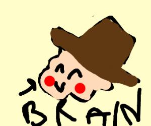 Brain wearing a Hat
