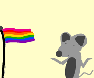 Mouse accepts gay people