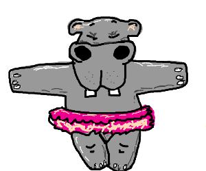 Hippo with a tutu