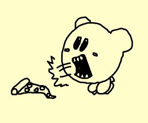 Kirby yells at pizza
