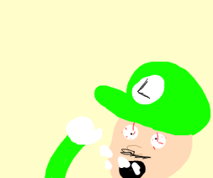 Luigi takes drugs