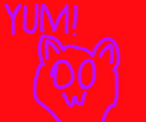 "Cat say's ""YUM"""