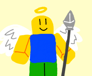 Roblox angel noob with a spear