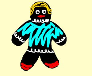 Black gingerbread girl