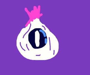 Onion with eye