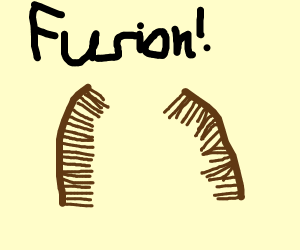 comb did the fusion dance with a comb
