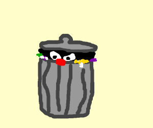 Me, being a trash bin