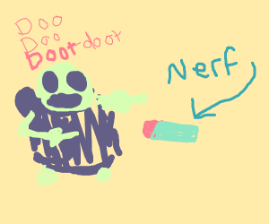 sans is immune to nerf bullets
