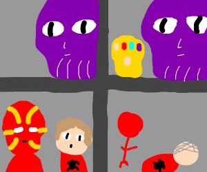 Avengers: Infinity War X Loss meme