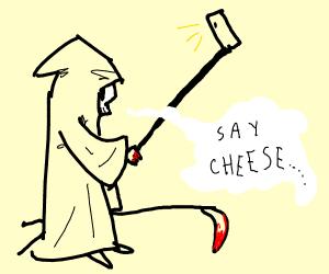 Grimm takin a selfie like a 40 yo white male