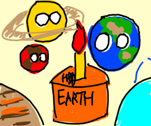 The Planets Celebrate Earth's Birthday