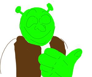 Shrek gives you thumbs up