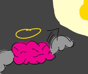 Angel brain flying into the light