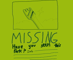 Lost and Found Flyer for a Fork