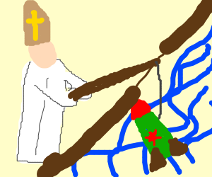 Priest fishing with a Missile