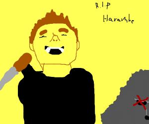 Elon Musk killed Harambe. So sad... :'(