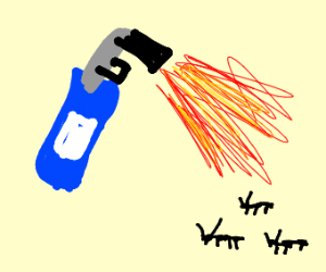 killing ants with a blowtorch