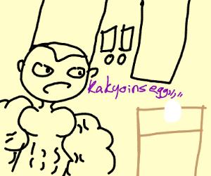 polnareff concerned about (kakyoins?) egg