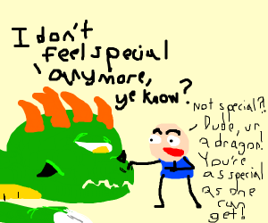Dragon says it's not special, human disagrees