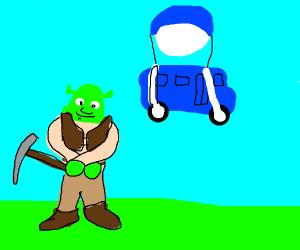 Shrek vs Fortnite