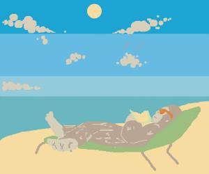 Sasquatch on vacation to Hawaii