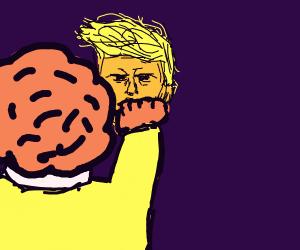 Ronald McDonald punches trump