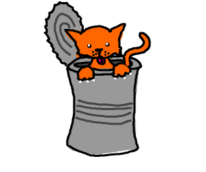 Cat in the can