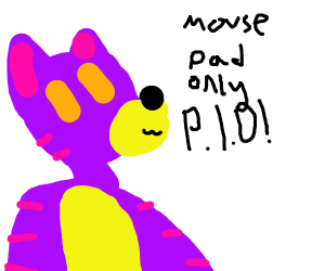 Mouse pad only PIO